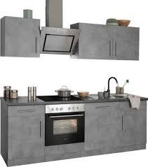 wiho küchen küchenzeile cali mit e geräten breite 220 cm mit hanseatic e geräten kurze lieferzeit