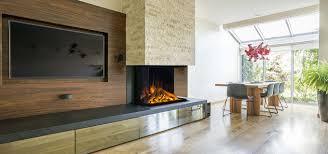 100 European Home Interior Design E32 H 3Sided Urban Fireplaces