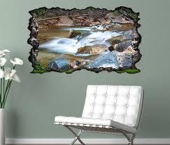 3d wandtattoo wasser wasserfall steine wald landschaft selbstklebend wandbild wandsticker wohnzimmer wand aufkleber 11o1226 wandtattoos und