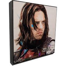 Bucky Barnes Inspired Plaque Mounted Poster