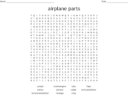 100 Parts Of A Plane Wing Airplane Parts Word Search WordMint