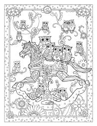 Creative Haven Owls Coloring Book By Marjorie Sarnat Rocking Horse Colouring PagesFree