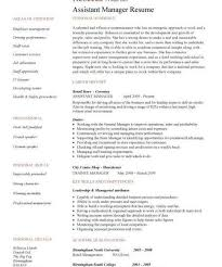 Assistant Manager Resume Retail Jobs Cv Job Description With Responsibilities Examples