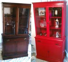 Red China Cabinet Red China Cabinet Painted Crate And Barrel Buffet