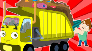 The Wheels Garbage Truck Original Rhyme Nursery Rhymes On Pink ...