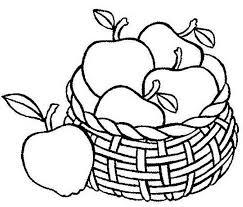 Fruit Basket Coloring Page AZ Pages