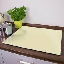 details zu banjado herdabdeckplatte aus glas spritzschutz schneidebrett beige