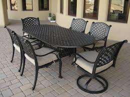 Amazing Oval Patio Dining Sets Tivoli Cast Aluminum Patio