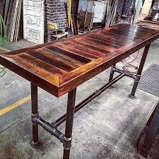 barn board hightop pipe base table jpg 640 640 project ideas