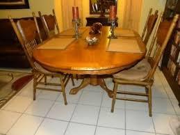 5 Piece Oval Dining Room Sets by Nostalgia Oval Sunburst Pedestal Table 5 Piece Dining Set In