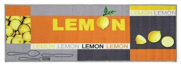 küchenläufer lemon zitrone 50 x 150 cm waschbar küchenteppich teppichläufer läufer küche