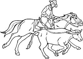 Cowboy Coloring Pages 2