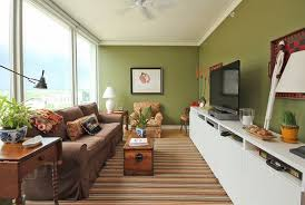 Decorating Ideas For Long Living Room Walls Small Narrow Green