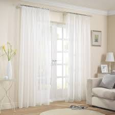 Crushed Voile Curtains Uk by Capri White 2