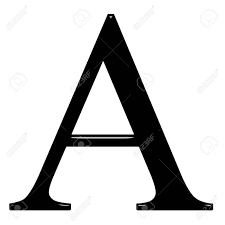 3d Greek Letter Alpha Isolated In White Stock Photo Picture And