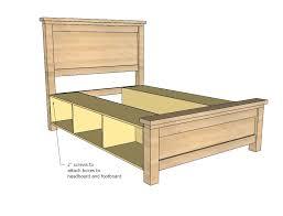 Ana White Farmhouse Headboard by Ana White Farmhouse Storage Bed With Storage Drawers Diy Projects