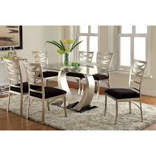 Wayfair Modern Dining Room Sets by Furniture Of America Damore Contemporary 7 Piece High Gloss Dining