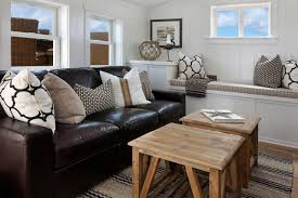 Black Leather Couch Decorating Ideas by Decor Beautiful Cowhide Pillows For Living Room And Bedroom