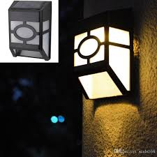 2018 free dhl solar powered wall mount led light outdoor garden