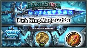 hearthstone defeating lich king boss guide standard mage deck