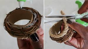 Slip On The Twig Ring And Glue Rope Along Edges 4 Next Add Cut Up Top Of