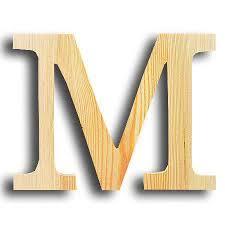 ustensile de cuisine en m en 6 lettres support à décorer en bois lettre petit modèle m 14 7 x 11 3 cm