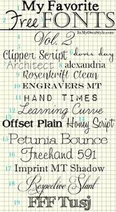 Free Fonts And A Link To Tutorial Showing How Download Them For