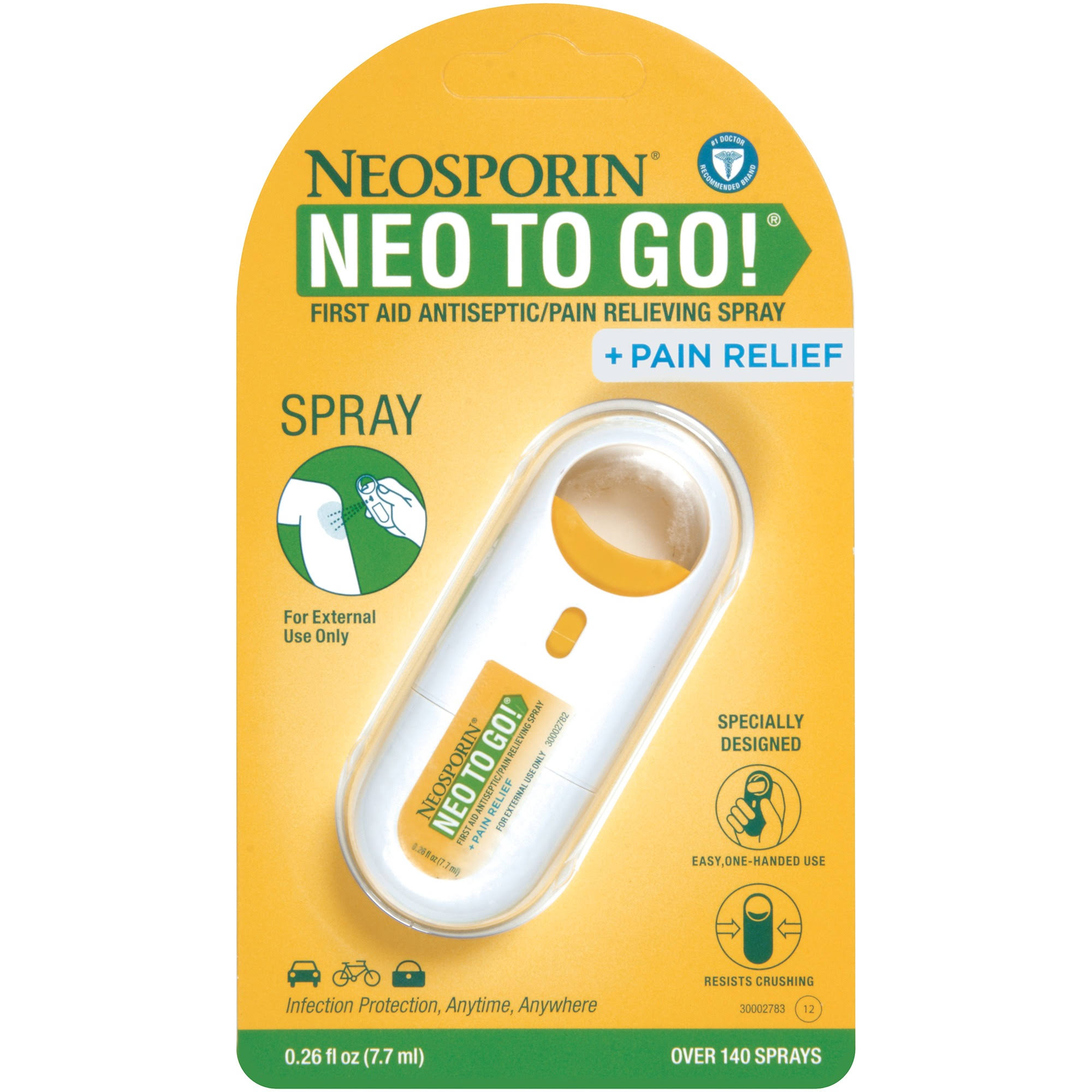 Neosporin Neo to Go Antiseptic Pain Relieving Spray