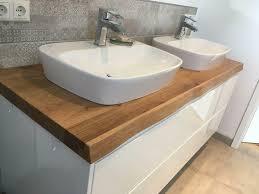 waschtisch platte baumkante bad wc holz eiche nußbaum massiv