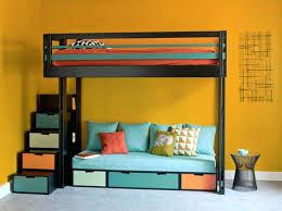 lit avec canapé lit mezzanine 2 places avec canape lit avec canapac lit mezzanine 2