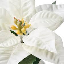 fejka topfpflanze künstlich mit topf drinnen draußen weihnachtsstern weiß 6 cm