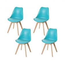 4x esszimmerstuhl hwc e53 stuhl küchenstuhl retro design türkis türkis kunstleder helle beine