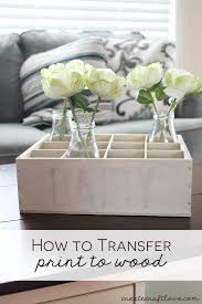 How To Transfer Print Wood