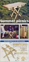Free Wood Folding Table Plans by Free Folding Picnic Table Plans Google Search Diy Crafts And