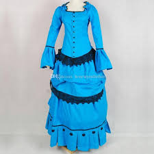 Custom Noble Blue Vintage 1800s Medieval Renaissance Gothic Victorian Ball Gown Marie Antoinette Dress Party Womens Sundresses On Sale And