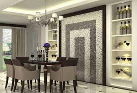 Modern Dining Room Wall Decor Ideas Shelves Bathroom Winning Creative