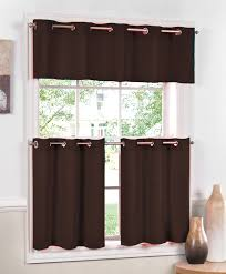 Jackson Grommet Curtains – Chocolate Lorraine Cafe & Tier Curtains