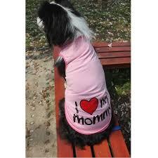 Pet Big Dog Vest Summer 100Cotton Large Size Clothes Shirt I LOVE MY