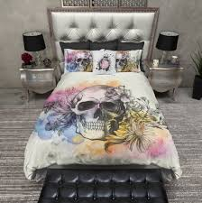 Vs Pink Bedding by Watercolor Sketch Skull Bedding Ink And Rags