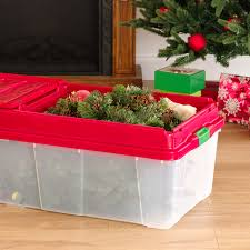 Christmas Tree Storage Tote Walmart by Iris Holiday Tree Storage Tote With Compartment Lid Red Walmart Com