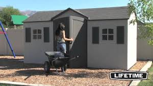 lifetime 15 x 8 garden shed youtube