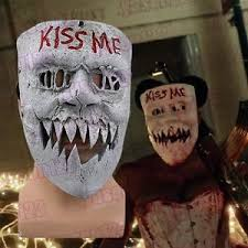 Purge Anarchy Mask For Halloween by The Purge Anarchy 3 Kiss Me Mask Scary Face Skull Resin Halloween