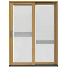 Jen Weld Patio Doors With Blinds by Jeld Wen 59 1 4 In X 79 1 2 In W 2500 French Vanilla Prehung