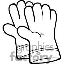 Baseball Glove Clipart Black And White