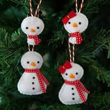 Snowman Family Christmas Tree Decorations
