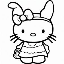 Easter Hello Kitty Coloring Pages