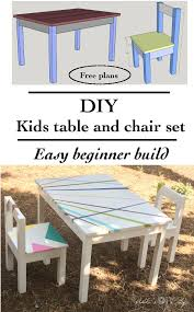 Easy DIY Kids Table And Chair Set With Free Plans | Anika's DIY Life ...