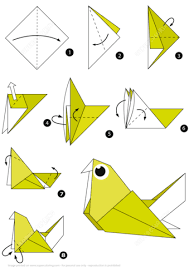 Click To See Printable Version Of How Make An Origami Pigeon Step By Instructions