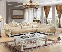amerikanischen ledercouchgarnitur wohnzimmer sofa china holzrahmen l form ecksofa beige
