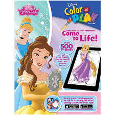 Disney Princess Color Play Giant Sticker Book